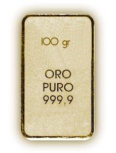 Lingotto oro 100 grammi
